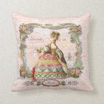 Marie Antoinette Paris and Pink Roses Pillow
