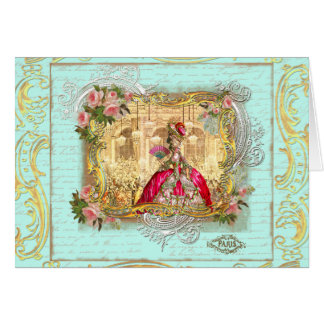 Marie Antoinette Party at Versailles Card