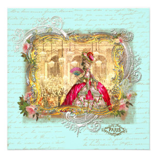 Marie Antoinette Party at Versailles Invitation