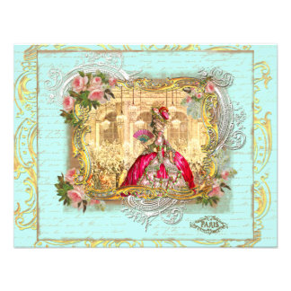 Marie Antoinette Party at Versailles Postcard Card Invites