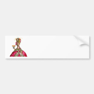 Marie Antoinette peacock and cake Bumper Sticker