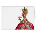 Marie Antoinette peacock and cake Greeting Card