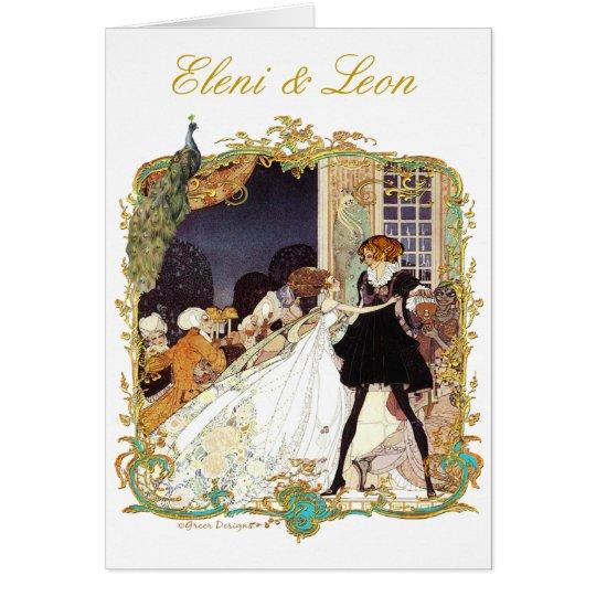 Marie Antoinette Peacock Costume Ball Invites Card