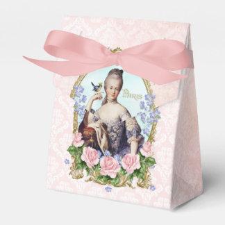 Marie Antoinette Pink Damask Rose Favor Box