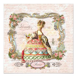 Marie Antoinette Pink Roses in Paris Invite