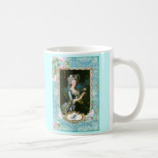Marie Antoinette Pink Roses Lace Mug Cup