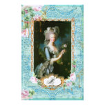 Marie Antoinette Pink Roses n Lace Stationery Paper