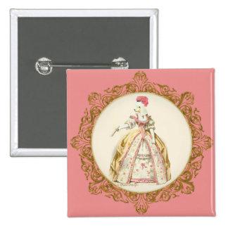 Marie Antoinette Poodle 15 Cm Square Badge