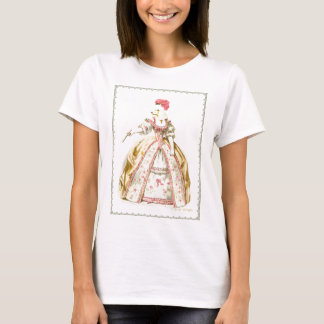 Marie Antoinette Poodle Fashion Plate Stationery T-Shirt