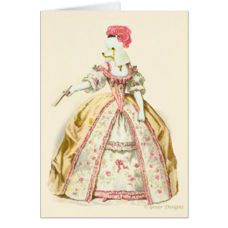 Marie Antoinette Poodle Greeting Card