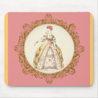 Marie Antoinette Poodle Mouse Pad