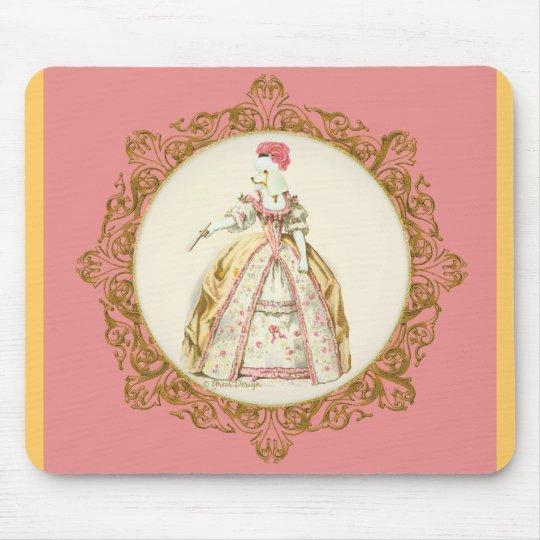 Marie Antoinette Poodle Mouse Pad