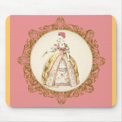 Marie Antoinette Poodle Mousemat