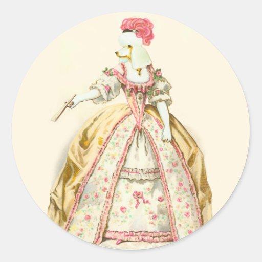 Marie Antoinette Poodle Sticker