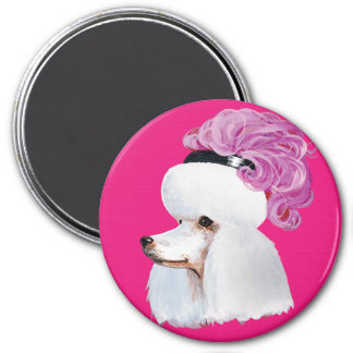 Marie Antoinette Poodle Stickers Magnet