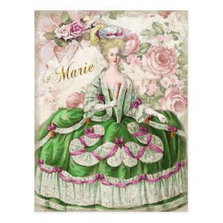 Marie Antoinette Portrait Postcard Bouquet