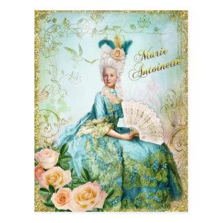 Marie Antoinette Portrait Postcard Emerald garden