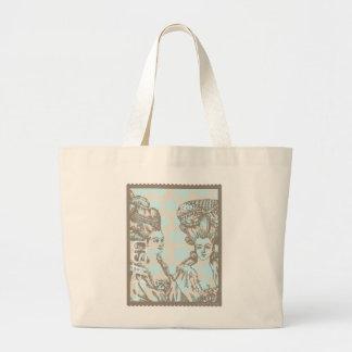 "Marie Antoinette ""Postage Stamp"" Tote Jumbo Tote Bag"