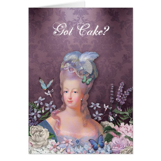 Marie Antoinette Purple Floral Card
