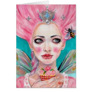 Marie Antoinette Queen Bee - let them eat cupcake Card