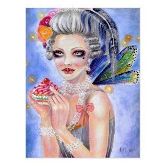 Marie Antoinette - Queen of Cupcakes Postcard