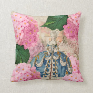 Marie Antoinette Redoute Flowers Throw Pillow