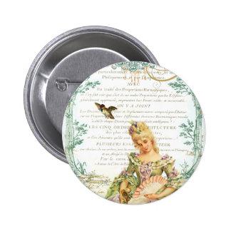 Marie Antoinette & Sparrow 6 Cm Round Badge