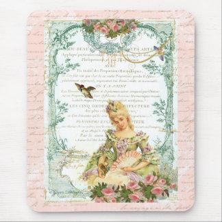 Marie Antoinette & Sparrow Mouse Pad