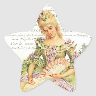Marie Antoinette & Sparrow Star Sticker