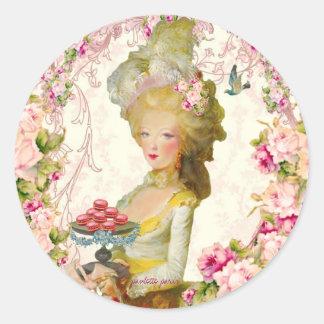 Marie Antoinette Springtime Macarons Seals Stickers