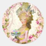 Marie Antoinette Springtime Pastille Macaron Seals Round Stickers