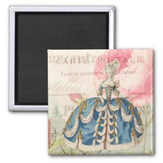 Marie Antoinette Square Magnet