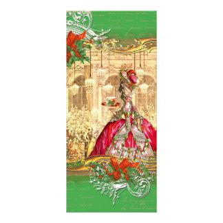 Marie Antoinette Tea Party Versailles Christmas Full Color Rack Card