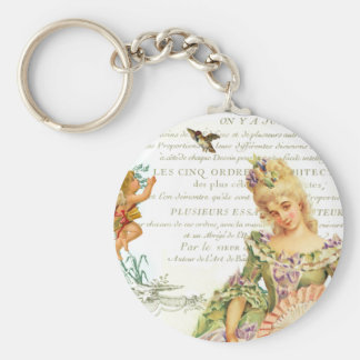 Marie Antoinette Valentine Basic Round Button Key Ring
