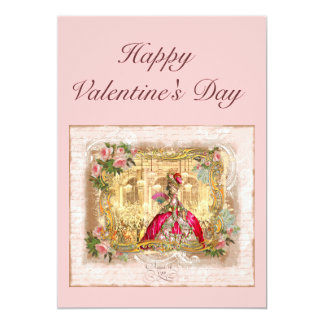 Marie Antoinette Valentine Card 13 Cm X 18 Cm Invitation Card