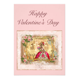 Marie Antoinette Valentine Card Personalized Invites