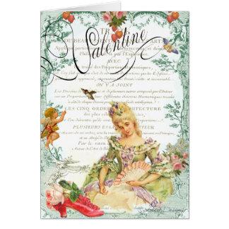 Marie Antoinette Valentine Greeting Card