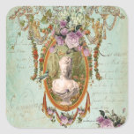 Marie Antoinette Versailles Ancient Gardens Square Stickers
