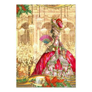 Marie Antoinette Versailles Christmas Tea Party 13 Cm X 18 Cm Invitation Card