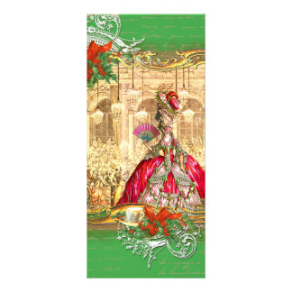 Marie Antoinette Versailles Christmas Tea Party Rack Card