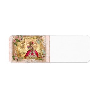 Marie Antoinette Versailles Party in Pink Return Address Label