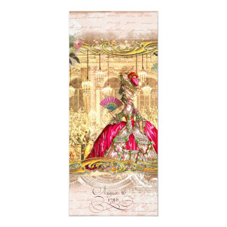 Marie Antoinette Versailles Party Pink Invitations