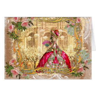 Marie Antoinette Versailles Pink Party Cards