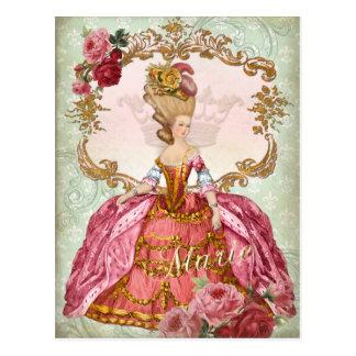 Marie Antoinette Verseilles Queen  Postcard