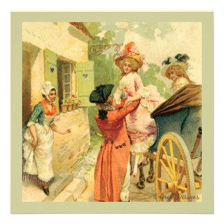 Marie Antoinette Vintage Style Invitation Card