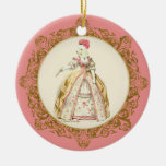 Marie Antoinette White Poodle Ornament
