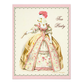 Marie Antoinette White Poodle with Fan Invitations