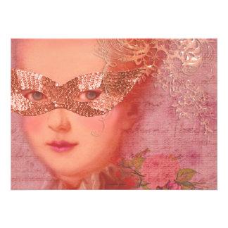 Marie Antoinette Winter Wedding Masquerade 5 x 7 Announcement
