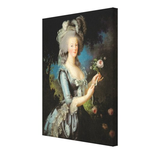 Marie Antoinette  with a Rose, 1783 Gallery Wrap Canvas