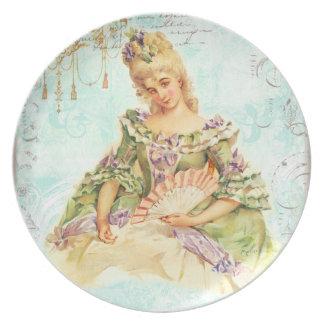 Marie Antoinette with Fan Plate